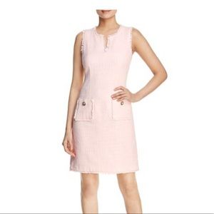 WORN ONCE Karl Lagerfeld Light Pink Tweed Dress